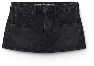 Denim Mini Low-Rise Skort