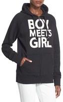 Boy Meets Girl Women's Full Zip Graphic Hoodie