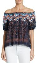 Peter Pilotto Off-The-Shoulder Embroidered Lace Blouse