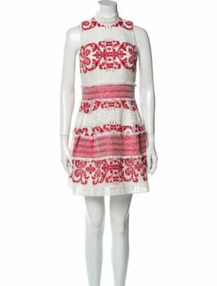 Alexis Printed Mini Dress Red