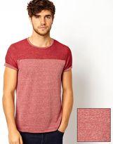 Asos T-Shirt With Contrast Yoke Textured Jersey