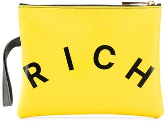 John Richmond Junior Logo Printed Clutch Bag