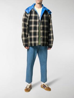 Lanvin Reversible Check Hooded Jacket