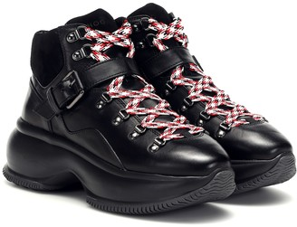 Hogan Maxi I Active leather ankle boots