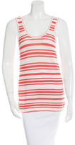 Rag & Bone Striped Knitted Sleeveless Top