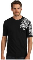 DSquared DSQUARED2 - Tattoo Fit Floral Tee (Black) - Apparel