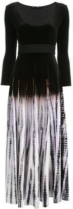 Proenza Schouler Tie-Dye Scoop Neck Dress