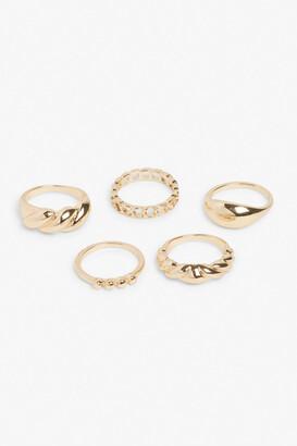 Monki 5-Set Gold Rings