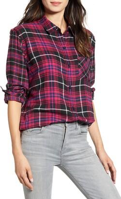 Rails Brock Plaid Button-Up Twill Shirt