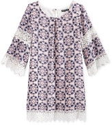Sequin Hearts Lace-Trim Shift Dress, Big Girls (7-16)