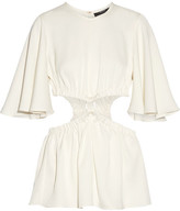 Ellery Apocalyptic Cutout Satin-crepe Top - Off-white