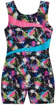 Jacques Moret Girls 4-14 Foil Splash Gym Biketard Leotard