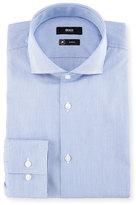 HUGO BOSS Slim-Fit Micro-Stripe Travel Dress Shirt, Blue/White