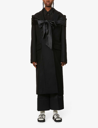 Simone Rocha Wool, cashmere and silk-blend coat