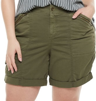 Plus Size EVRI Utility Bermuda Shorts