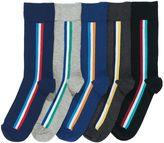 Retro Vertical Stripe Socks Five Pack