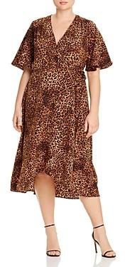 Baobab Collection Orna Leopard Print Midi Wrap Dress