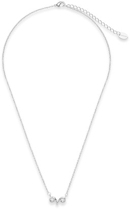 Sterling Forever Rhodium Plated Zodiac Pendant Necklace - Aries
