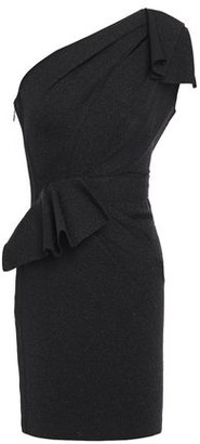 Herve Leger One-shoulder Bow-detailed Cutout Stretch-knit Mini Dress