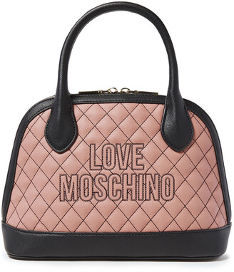 Love Moschino Two-tone Quilted Faux Leather Tote