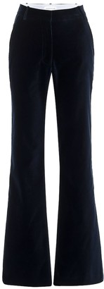 Victoria Beckham High-rise flared velvet pants
