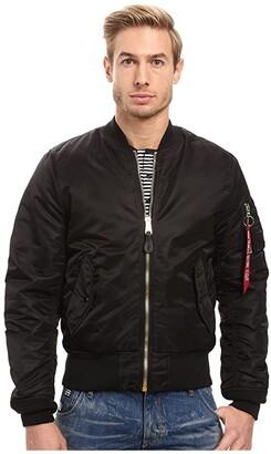 Alpha Industries MA-1 Slim Fit Flight Jacket (Black) Men's Coat