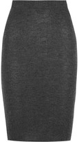 The Elder Statesman Cashmere Pencil Skirt - Dark gray