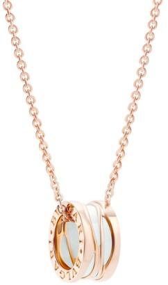 Bvlgari Rose Gold and Ceramic B.zero1 Design Legend Necklace