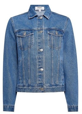 Dorothy Perkins Womens Indigo Organic Cotton Denim Jacket