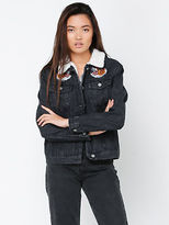 Glamorous New Womens Embroidered Japan Jacket In Black Jackets Denim