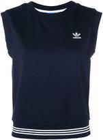 adidas three stripe tank top - women - Cotton/Polyester - 36