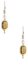Meira T 14K Gold, 0.06 Total Ct. Diamond & Quartz Drop Earrings