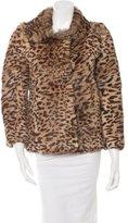 Isabel Marant Leopard Printed Fur Jacket