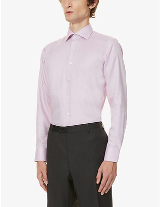 Canali Micro weave cotton shirt