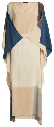 Akris Patchwork-Style Kaftan Dress
