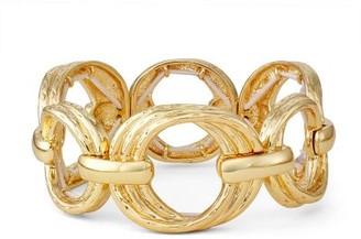Dana Buchman Gold Tone Open Circle Stretch Bracelet