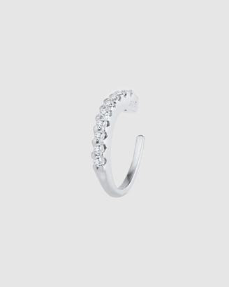 Elli Jewelry Earrings Ear Cuff Zirconia Crystal Trend 925 Sterling Silver