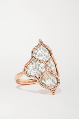 Boghossian 18-karat Rose Gold, Titanium Fiber And Diamond Ring - 6