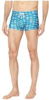 2xist Fashion Knit Swim Cabo Trunks (Fish Stripe) Men's Swimwear