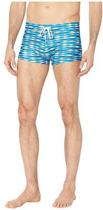 2xist Fashion Knit Swim Cabo Trunks (Fish Stripe) Men's Swimwear