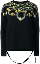 Marcelo Burlon County of Milan snake printed sweatshirt - women - Cotton - XS