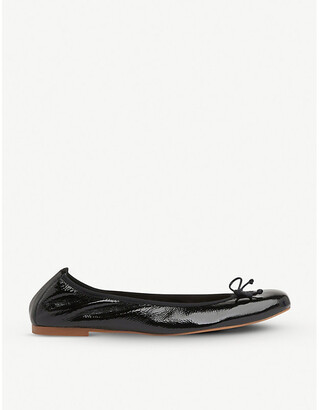 LK Bennett Trilly patent leather ballerina flats