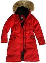 Canada Goose Red Cotton Coat for Women