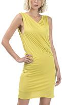 Lemon Drape-Back Sheath Dress