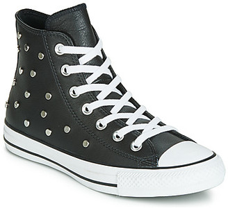 Converse CHUCK TAYLOR ALL STAR LEATHER STUDS HI women's Shoes (High-top Trainers) in Black