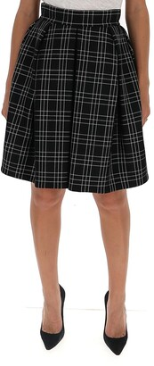 Alexander McQueen Checked Skirt