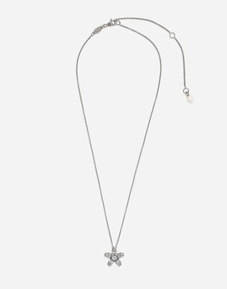 Dolce & Gabbana Primavera Pendant In White Gold With Diamonds