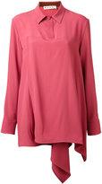Marni asymmetric blouse - women - Silk/Acetate - 40