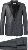 Saint Laurent metallic peaked lapel suit - men - Silk/Cotton/Polyester/Wool - 52