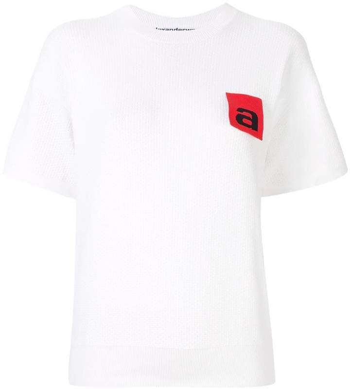 Alexander Wang knitted logo applique top